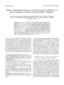 Mothers' Emotional Expressivity and Children's
