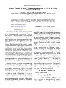 Motion of solitons of the complex Ginzburg ... - APS Link Manager