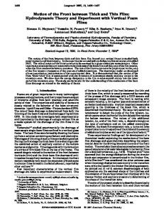 Motion of the Front between Thick and Thin Film: Hydrodynamic ...