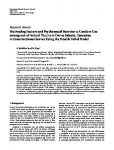 Motivating Factors and Psychosocial Barriers to Condom Use among ...