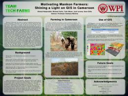 Motivating Mankon Farmers: Shining a Light on GIS in Cameroon
