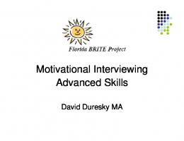 Motivational Interviewing Advanced Skills - Florida Alcohol and Drug ...