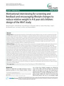 Motivational interviewing for screening and feedback and encouraging ...
