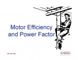 Motor Efficiency and Power Factor
