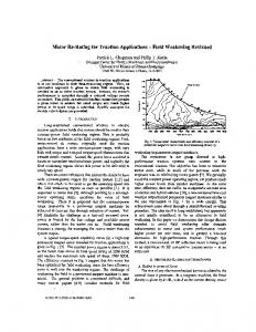 Motor re-rating for traction applications - Field ... - IEEE Xplore