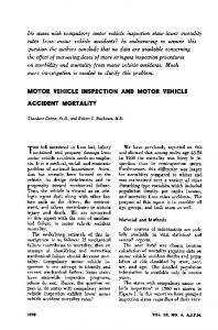 motor vehicle inspection and motor vehicle accident mortality - NCBI