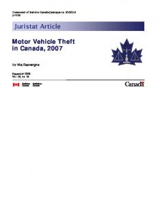 Motor Vehicle Theft in Canada