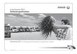 motorhomes 2013 Technical specifications