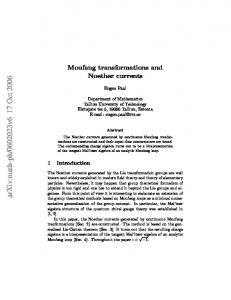 Moufang transformations and Noether currents