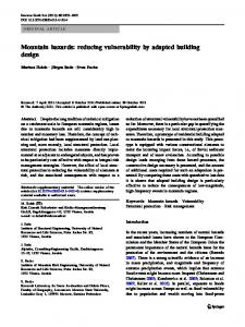 Mountain hazards: reducing vulnerability by adapted building ... - Core