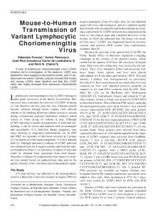 Mouse-to-Human Transmission of Variant Lymphocytic ...