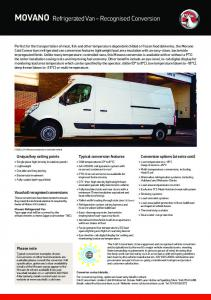 Vivaro and movano specification and technical data find vauxhall movano refrigerated van recognised conversion vauxhall asfbconference2016 Gallery