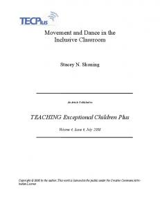 Movement and Dance in the Inclusive Classroom - Eric