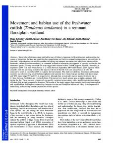 Movement and habitat use of the freshwater ... - Wiley Online Library