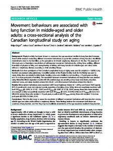 Movement behaviours are associated with lung ... - BMC Public Health