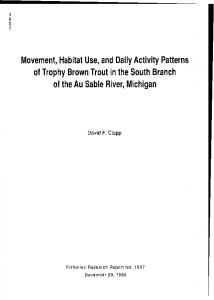 Movement, Habitat Use, and Daily Activity Patterns of ... - Deep Blue