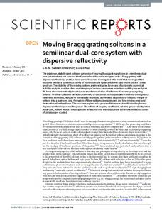 Moving Bragg grating solitons in a semilinear dual ...