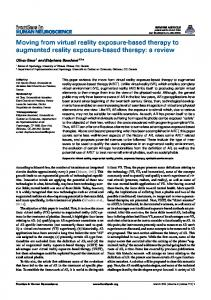 Moving from virtual reality exposure-based therapy to ... - BioMedSearch