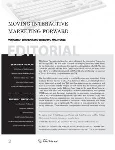Moving interactive marketing forward - Wiley Online Library
