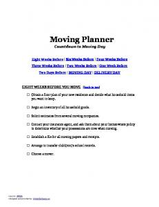 Moving Planner - Moving Companies   Lancaster
