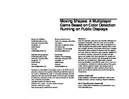 Moving Shapes: A Multiplayer Game Based on ... - Denys JC Matthies