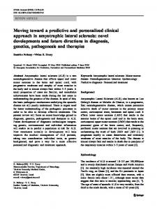 Moving toward a predictive and personalized clinical approach ... - Core