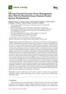 Moving Towards Dynamic Ocean Management: How Well Do ... - MDPI