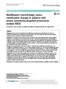 Moxifloxacin monotherapy versus combination therapy in patients with ...