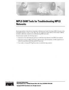 MPLS OAM Tools for Troubleshooting MPLS Networks