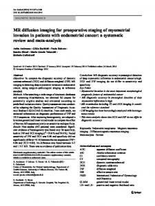 MR diffusion imaging for preoperative staging of ... - Springer Link