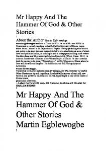 Mr Happy And The Hammer Of God & Other Stories Martin ...