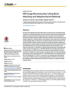 MR Image Reconstruction Using Block Matching