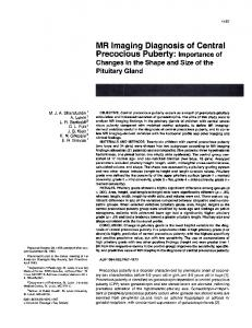 MR Imaging Diagnosis of Central