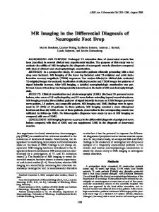 MR Imaging in the Differential Diagnosis of Neurogenic Foot Drop