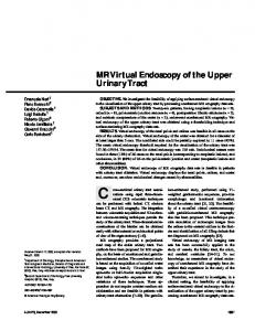MR Virtual Endoscopy of the Upper Urinary Tract - AJR