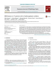 MRI features in 17 patients with l2 hydroxyglutaric