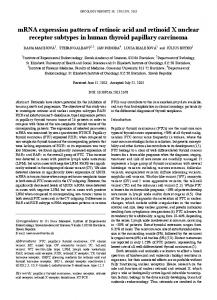 mRNA expression pattern of retinoic acid and retinoid X nuclear ...
