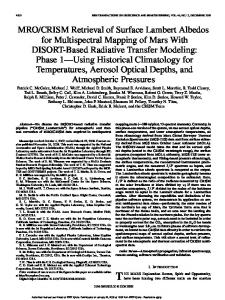 MRO/CRISM Retrieval of Surface Lambert Albedos for Multispectral ...