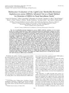 MRSA - Journal of Clinical Microbiology - American Society for ...