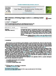 MRT detection of fretting fatigue cracks in a cableway ...