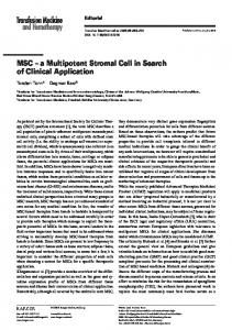 MSC - a Multipotent Stromal Cell in Search of ... - Karger Publishers