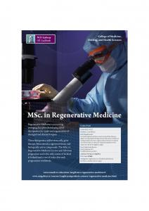 MSc. in Regenerative Medicine