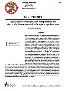 MSc THESIS - Computer Engineering Publications Database - TU Delft