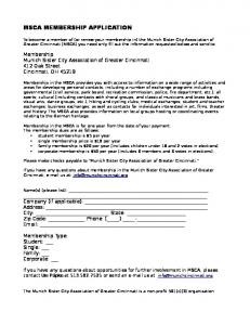 MSCA MEMBERSHIP APPLICATION - Munich Sister City ...