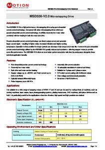 MSD556-V2.0 Microstepping Drive - Motion Control Products