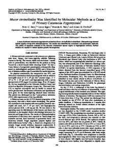 Mucor circinelloides - Journal of Clinical Microbiology - American ...