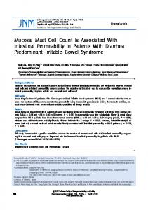 Mucosal Mast Cell Count Is Associated With