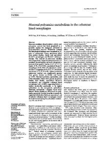 Mucosal polyamine metabolism in the columnar lined oesophagus - Gut