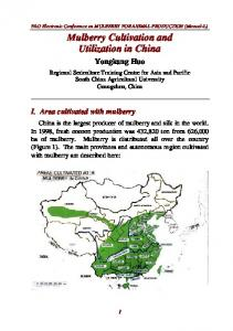 Mulberry Cultivation and Utilization in China