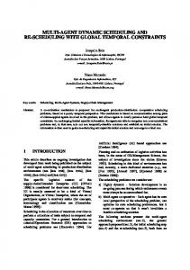 multi-agent dynamic scheduling and re-scheduling with ... - INESC-ID